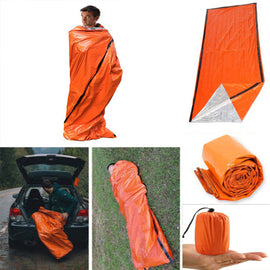 Outdoor Survival Sleeping Bag for Camping Hiking Thermal Waterproof Camp Emergency Sleeping Gears