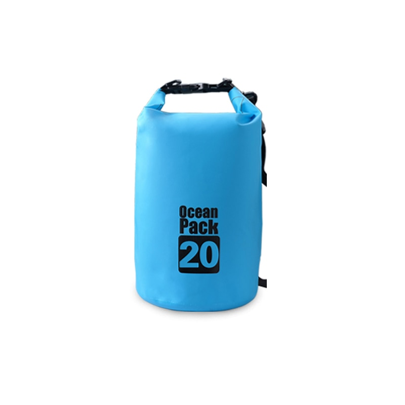 PVC 5L 10L 20L Outdoor Diving Compression Storage Waterproof Bag Dry Bag For Man Women Swimming