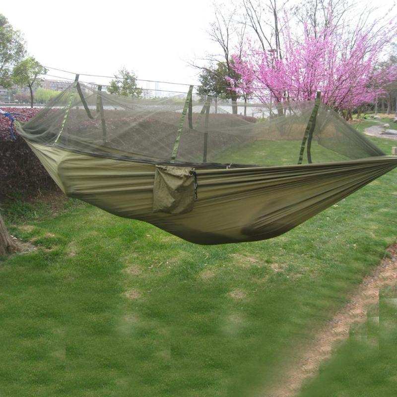 Portable Mosquito Net Camping Hammock Outdoor Garden Travel Swing Parachute Fabric Hang Bed