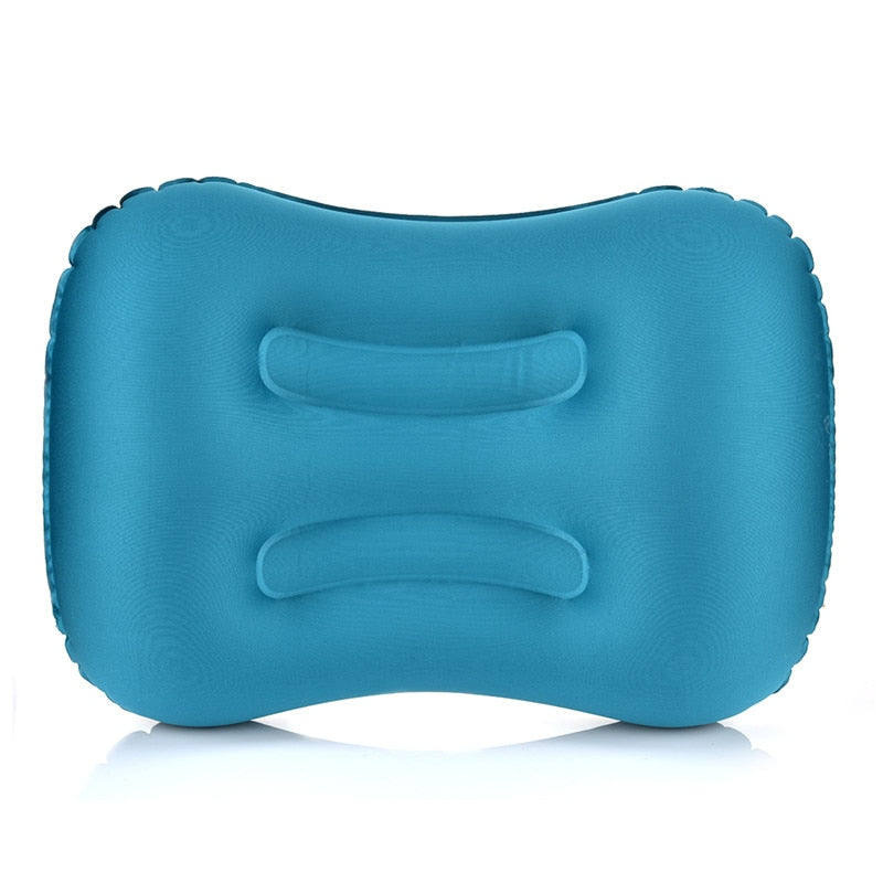 Portable Outdoor Travel Camping Pillow Compressible Inflatable Cushion Soft Neck Protective HeadRest