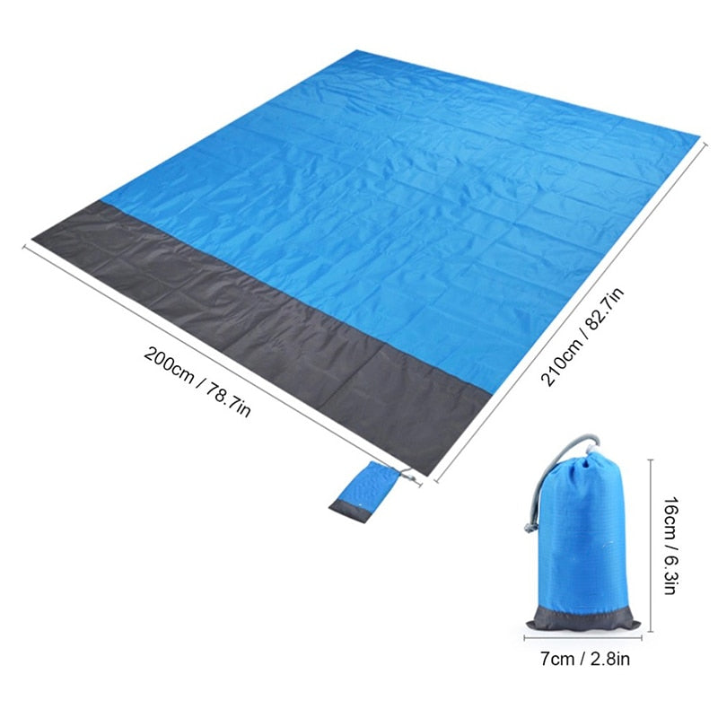 Portable Picnic Beach Mat Pocket Blanket Waterproof Beach Mat Blanket Ground Mat Mattress Outdoor