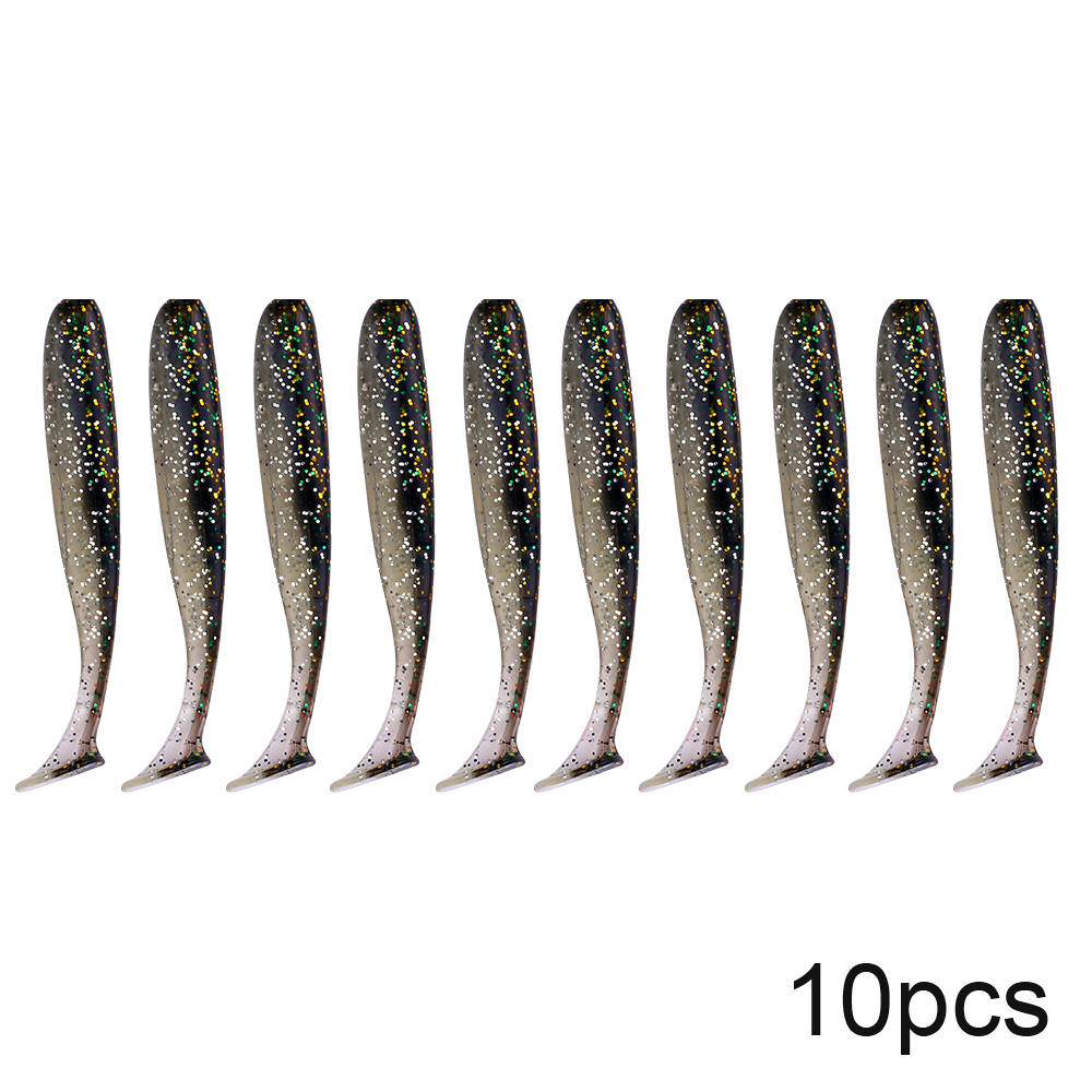 QXO 10pcs/Lot Soft Lures Silicone Bait 7cm 2g Goods For Fishing Sea Fishing Pva Swimbait Wobblers Artificial Tackle