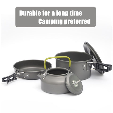 Quality Camping cookware Outdoor cookware set camping tableware cooking set travel tableware Cutlery