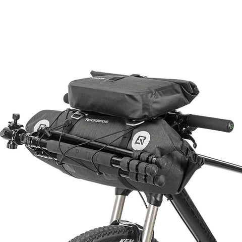 ROCKBROS Bicycle Bag Big Capacity Waterproof Front Tube Cycling Bag MTB Handlebar Bag Front Frame