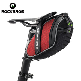 ROCKBROS Bike Bag 3D Shell Rainproof Saddle Bag Reflective Bicycle Bag Shockproof Cycling Rear
