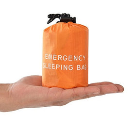 Reusable Emergency Sleeping Bag Waterproof Survival Camping Travel Bag & Whistle for Travel