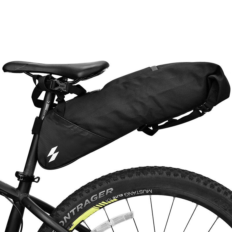 SAHOO 131414 Bicycle Seatpost Bag Bike Saddle Seat Storage Pannier Cycling MTB Road Rear Pack Water tight Extendable 8L 10L
