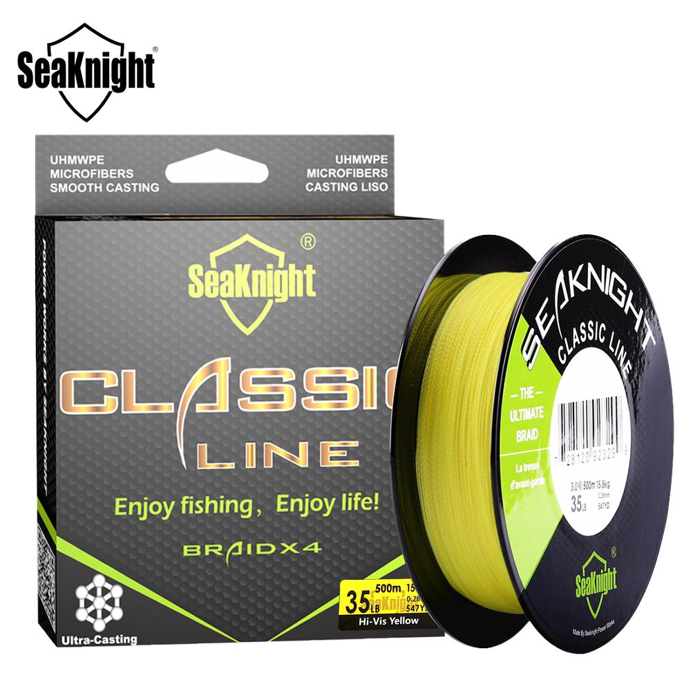 SeaKnight Classic 300M 500M Braided Fishing Line 4 Strand PE Line Braid Multifilament Fishing Line 6
