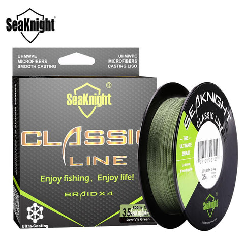 SeaKnight Classic 300M 500M Braided Fishing Line 4 Strand PE Line Braid Multifilament Fishing Line