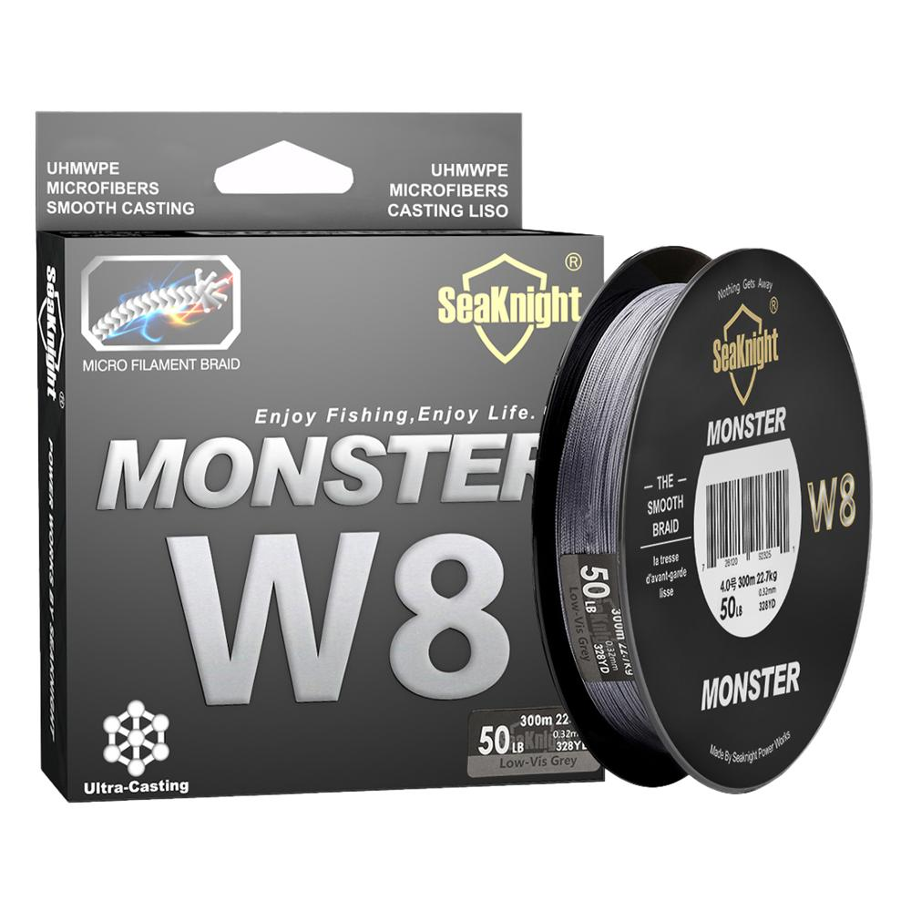 SeaKnight MONSTER W8 Fishing Line 150M 300M 500M 8 Strands Braided Fishing Line Multifilament PE