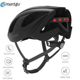 SMART4U MTB SH55M Cycling Bicycle Back Lamp Helmet Outdoor 6 LED Warning Light Smart Motorcycles Helmet