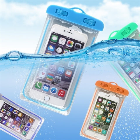 Summer Luminous Waterproof Pouch Swimming Gadget Beach Dry Bag Phone Case Cover Camping Skiing