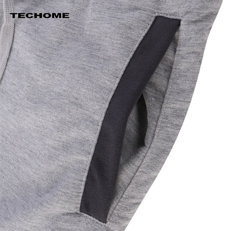 Summer men Leisure Men Knee Length Shorts Color Patchwork Joggers Short Sweatpants Trousers Men