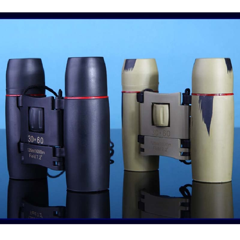 Telescope with Zoom 30x60 folding binoculars with low night light the bird's eye view of hunting