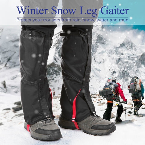 Unisex Waterproof Cycling Legwarmers Leg Cover Camping Hiking Ski Boot Travel Shoe Snow Hunting