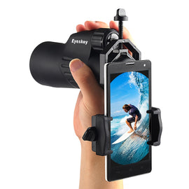 Universal Cell Phone Adapter Clip Mount Binocular Monocular Spotting Scope Telescope Phone Support