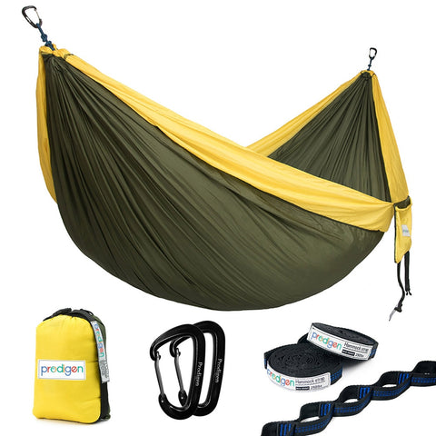 Upgrade Camping Hammock with Hammock Tree Straps Portable Parachute Nylon Hammock for Backpacking
