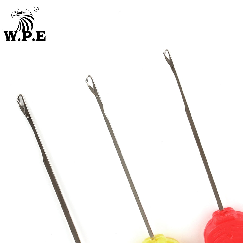 W.P.E Carp Fishing Accessories 1 Set/4 pcs Boilie Needle Set Kit Tool Stainless Baiting Drill Stringer Needle Fishing Tool Pesca