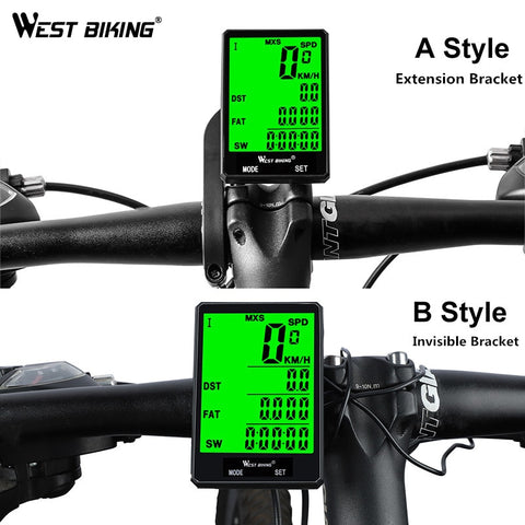 WEST BIKING Waterproof Bicycle Computer With Backlight Wireless Wired Bicycle Computer Bike