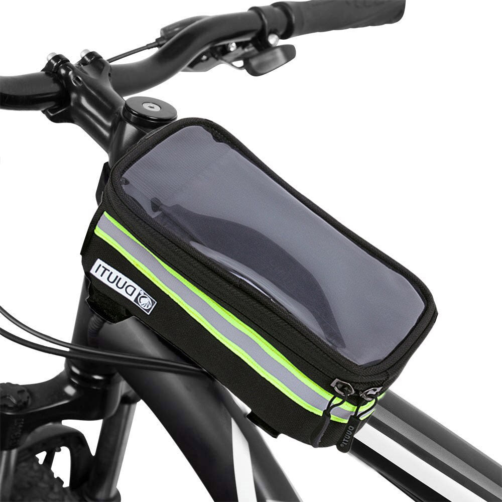 Waterproof Bicycle Bag Nylon Bike Cyling Bag Case 4.8'' 5.7'' Bicycle Panniers Frame Bags for Bike Cycling Accessories