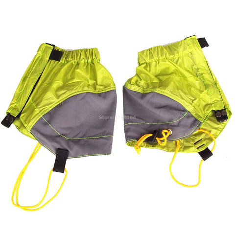 Waterproof Snow Leg Gaiters Outdoor Silicon Coated Nylon Ultralight Gaiters Leg Protection Guard