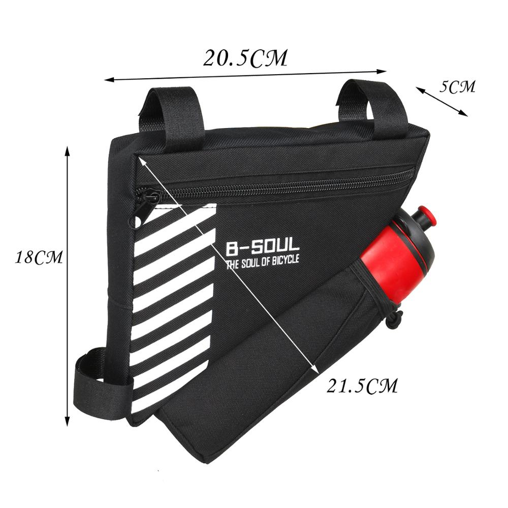 Waterproof Triangle Bike Bicycle Bag Cycling Front Bag Bicycle Pouch Frame Bags Bicycle Accessories (Not Include Water Bottle)