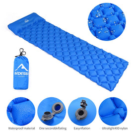 Widesea Camping Sleeping Pad Inflatable Air Mattresses Outdoor Mat Furniture Bed Ultralight