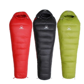 Winter Ultralight Thermal Adult Mummy 95% White Goose Down Sleeping Bag Sack W/ Compression Pack For