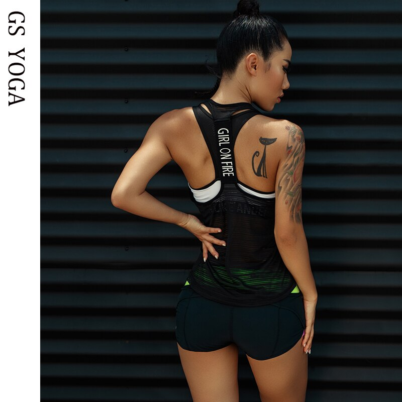 Women Sport tank Tops For Gym Vest Top Fitness Sleeveless T Shirt Sports Wear Yoga tank top