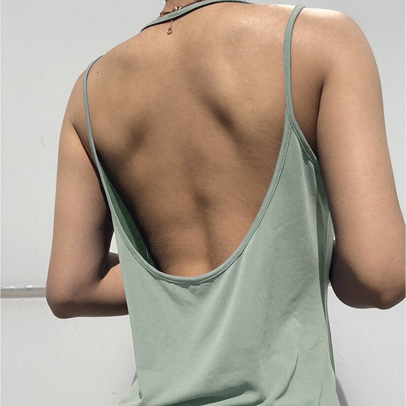 Zhangyunuo Sleeveless Sports Vest Sports Yoga Crop Tops Women Sexy Backless Shirt Workout Top Gym