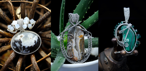Stainless Steel Cold Fusion Wire Wrapped Pendants