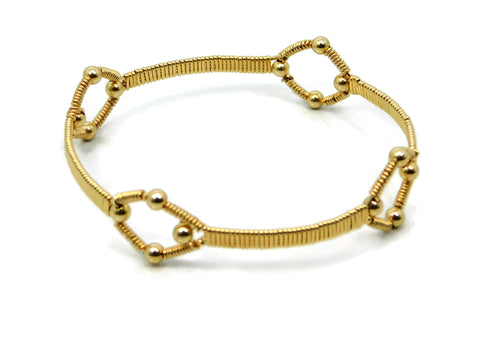 14kt Gold Fill Quad Profile Bangle Bracelet