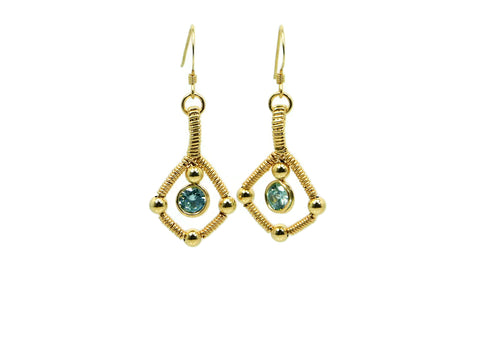 14kt Gold Fill Single Gem Earrings