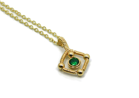 14kt Gold Fill Single Gem Pendant