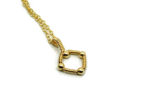 14kt Gold Fill Single Profile Pendant