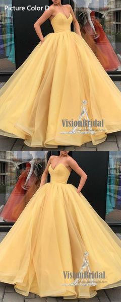 Red Sweetheart Ball Gown, Sexy Lace Up Floor Length Prom Dress, Charming Prom Dress, VB0237