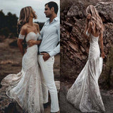 Hot Sale Sweetheart Long Lace Mermaid Wedding Dresses, Wedding Dresses, VB01514