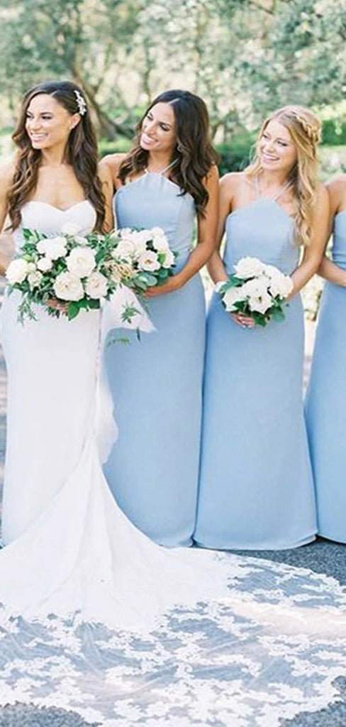 Halter Mermaid Bridesmaid Dresses, Wedding Party Dresses, VB03863