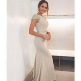Charming Cap Sleeve With Beaded Long Mermaid Bridesmaid Dresses, Bridesmaid  Dresses. VB01875