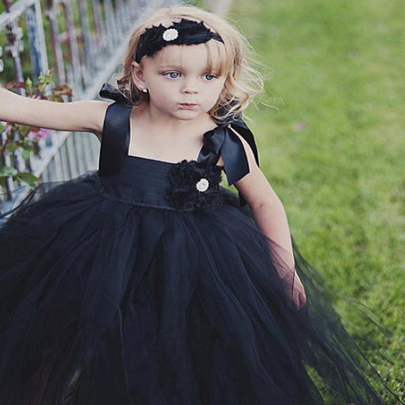 Cute Regular Straps A-Line Tulle Flower Girl Dresses With Appliques, Cheap Flower Girl Dresses, VB01136