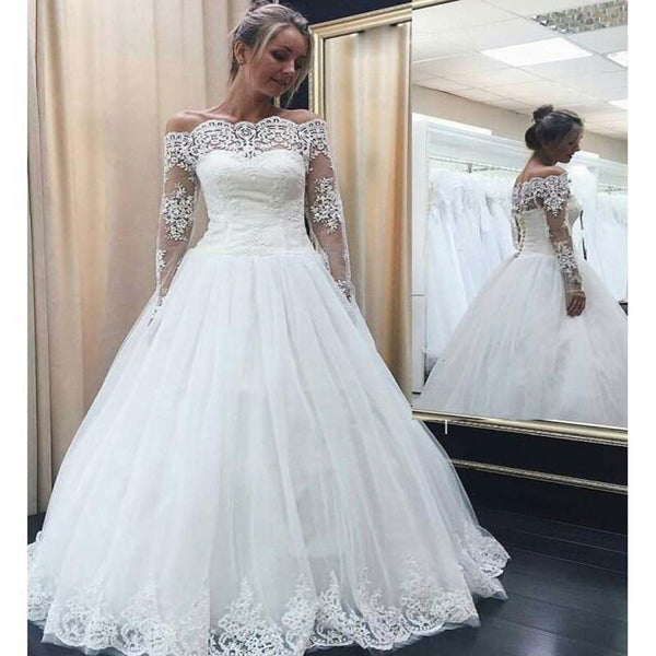Lace and Tulle Wedding Dress