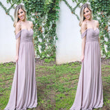 Mismatched Different Styles Chiffon Sexy A-Line Floor-Length Cheap Bridesmaid Dresses, VB0306 - Visionbridal