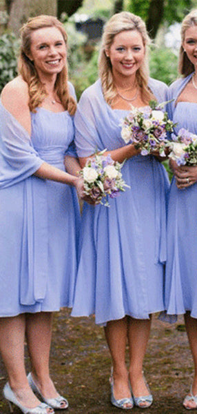 2019 Strapless Top Pleated Chiffon Bridesmaid Dresses, Simple Bridesmaid Dresses, VB02292