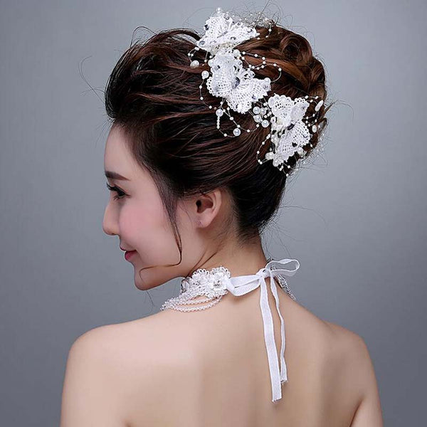 Silver Floral Bridal Headpiece, gorgeous headpiece, VB0581