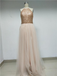 Halter Top Sequin A-Line Tulle Prom Dress_US4, SP006