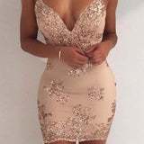 Sexy Spaghetti Straps Mermaid Homecoming Dresses With Sequin, Unique Homecoming Dresses, Hot Sale Homecoming Dresses, VB01098