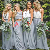 Newest Popular Simple Two Pieces Bridesmaid Dresses, Wedding Guest Dress, Bridesmaid Dresses, VB0316 - Visionbridal