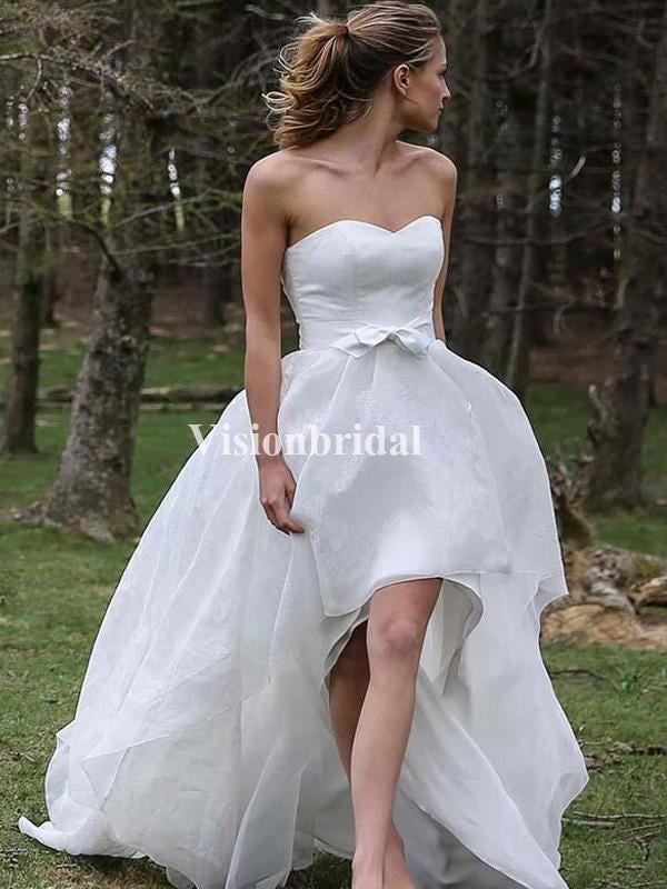 Beach Sweetheart High Low Wedding Dresses Cheap Wedding Dresses