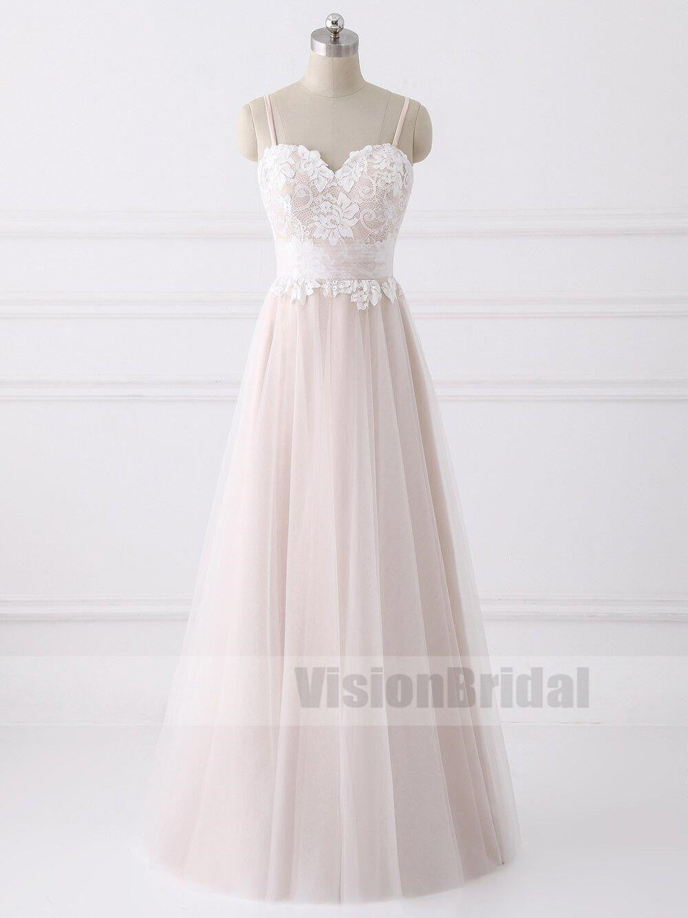 Lovely Spaghetti Straps Sweetheart A-line Cheap Wedding Dresses ...