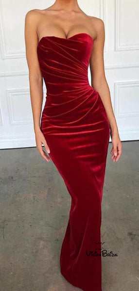 Eye-Catching red Sweetheart Long Mermaid Prom Dresses, Prom Dresses, VB02229